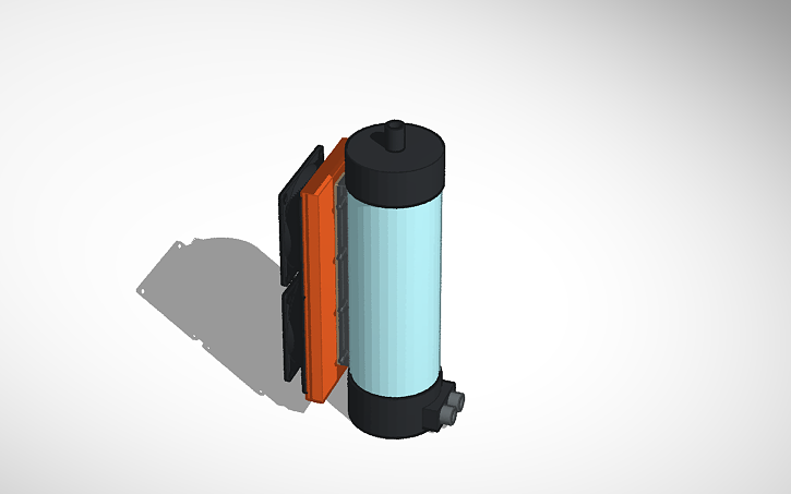 3D design PC Watercooling - TEC Active Cooled Resevoir