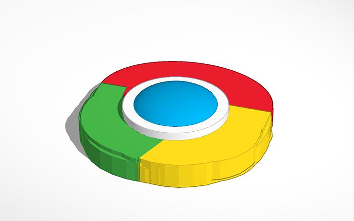3d Design Google Chrome Logo Tinkercad