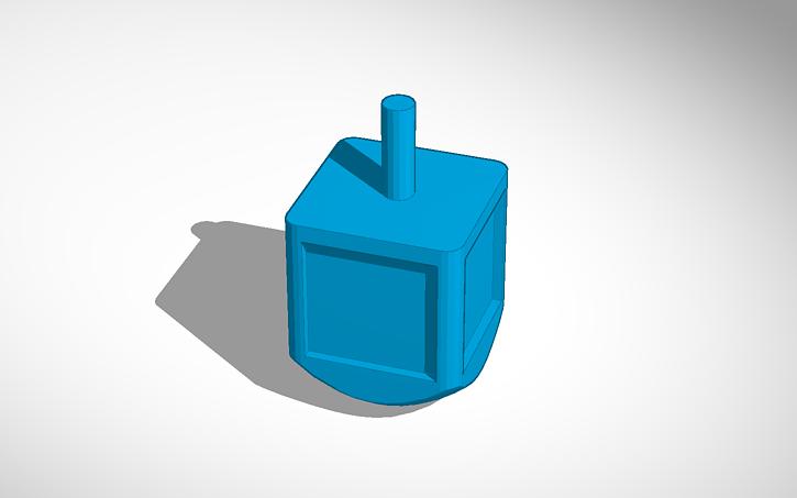 3D design Dreidel #template | Tinkercad
