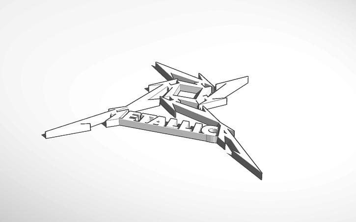 3d design metallica logo tinkercad