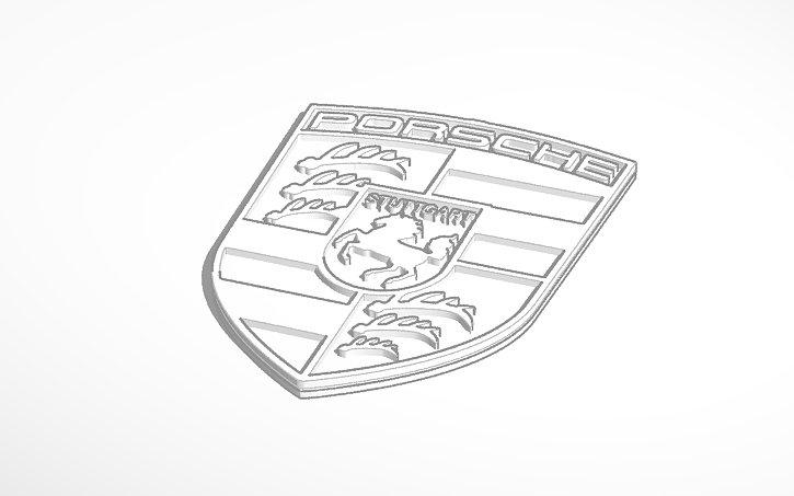 Copy Of Porsche Logo Tinkercad