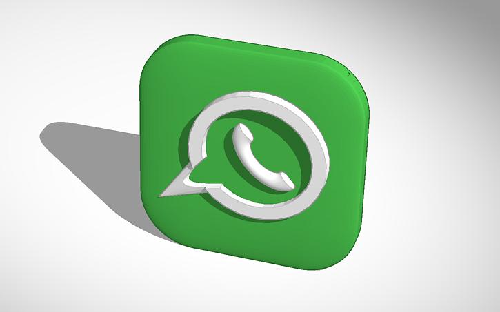 3d Design Whatsapp Symbol Tinkercad