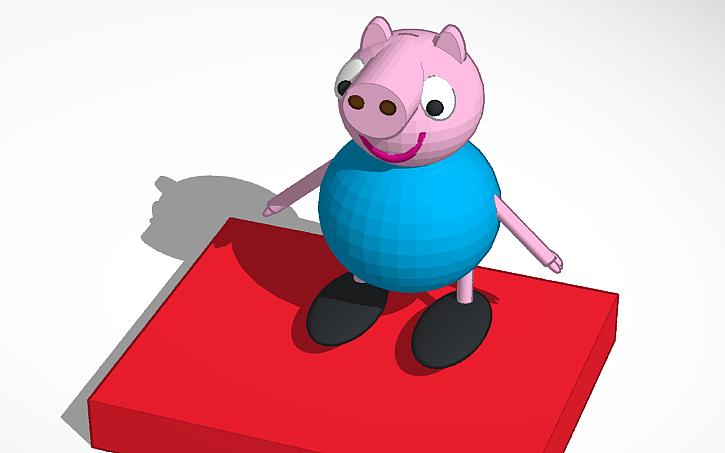3d Design Copy Of Peppa Pig Tinkercad