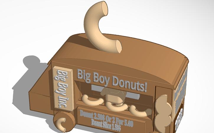 3D design Big Boy Donuts (Bad) ©2018 | Tinkercad