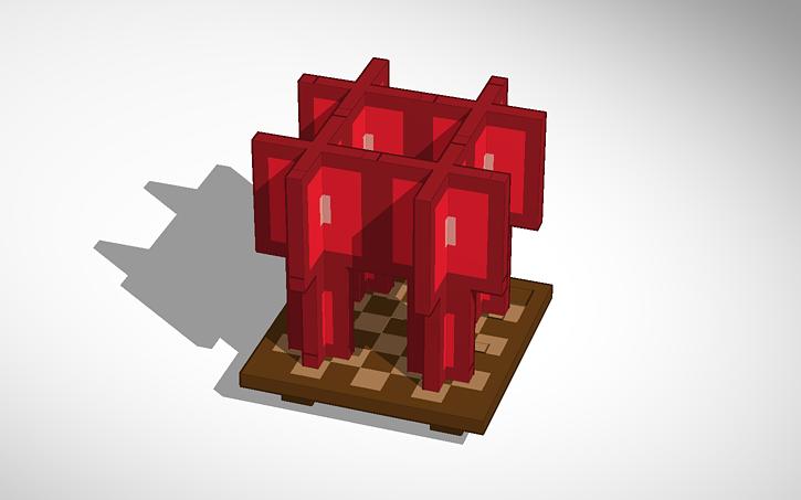 3D design MINECRAFT: Nether Wart/Stalk(Stage 3 of 3, oCd