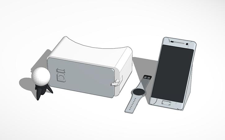 3D design Samsung Galaxy s7, Gear VR, Gear s2, and gear 360