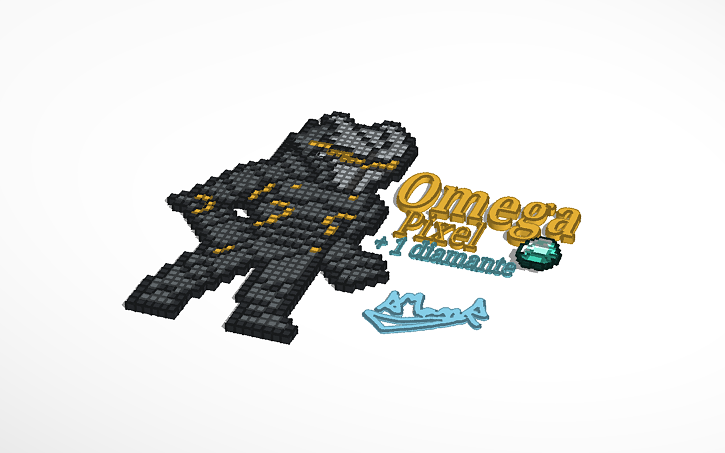 3d Design Omega Fortnite Pixel Art 5 Diamantito Tinkercad