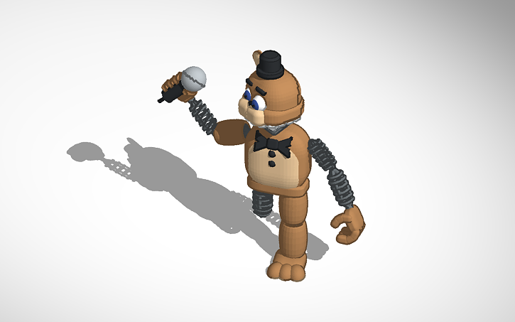 3D design broken Unwithered Freddy | Tinkercad