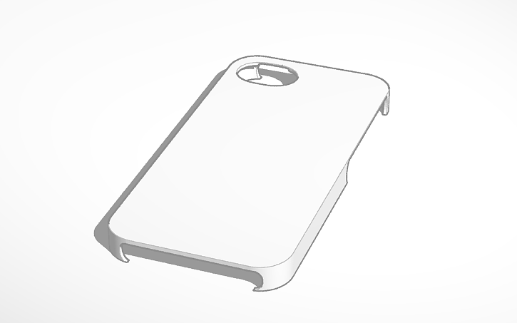 3d design iphone 5s case template tinkercad