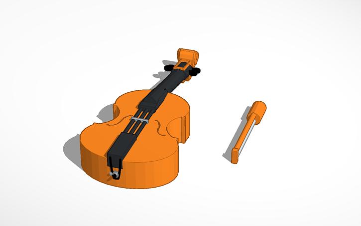 3D Design LEGO Minifigure Double Bass