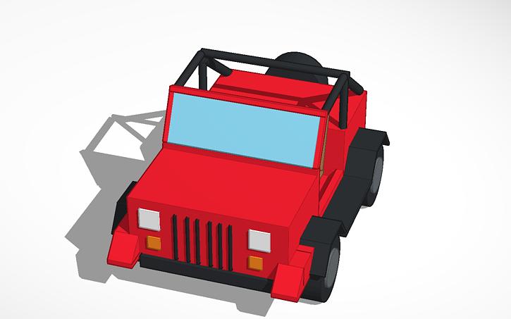3D design 1990 Jeep YJ | Tinkercad