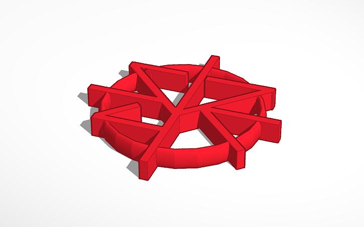 3d design seth rollins logo tinkercad