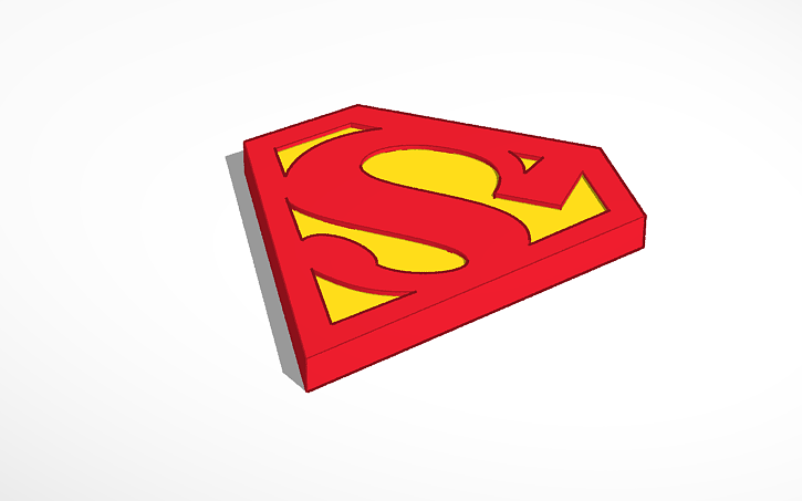 3D Design Superman Logo