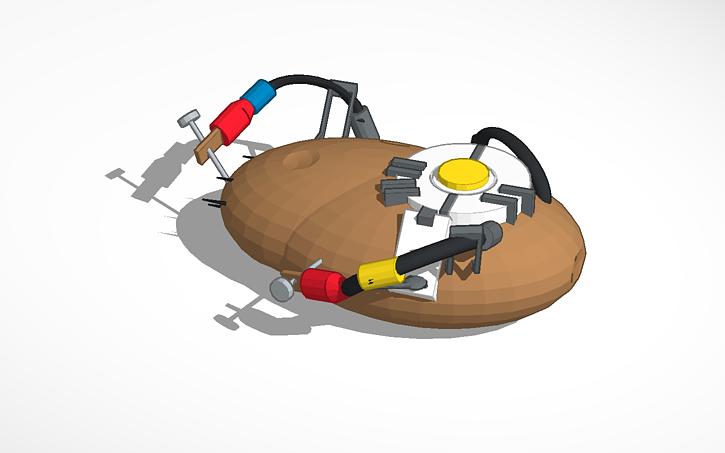 3d Design Glados Potato Tinkercad