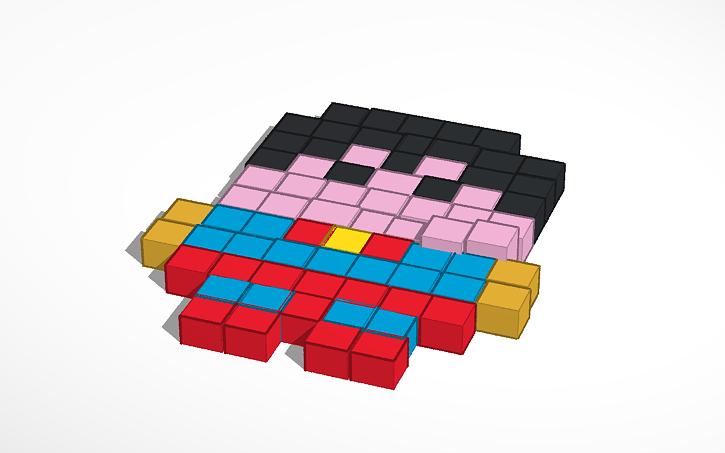 3d Design Superman Pixel Art Tinkercad