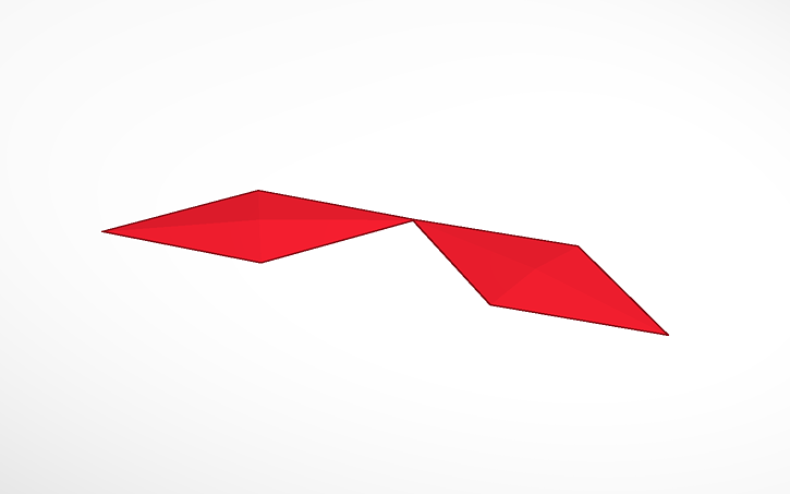 3D design mitsubishi logo | Tinkercad