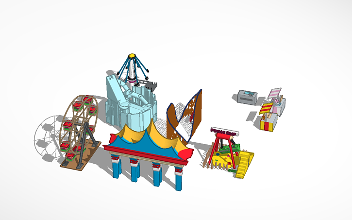 3D design model of theme park   Tinkercad