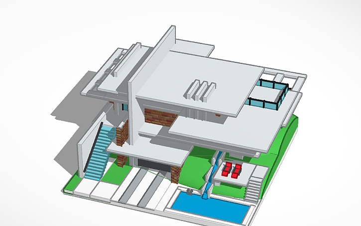 3d design modern house tinkercad design by ccuart