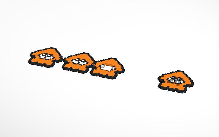 3d Design Splatoon Squid Pixel Art Tinkercad