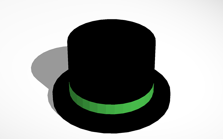 3d Design Roblox Green Banded Top Hat Tinkercad
