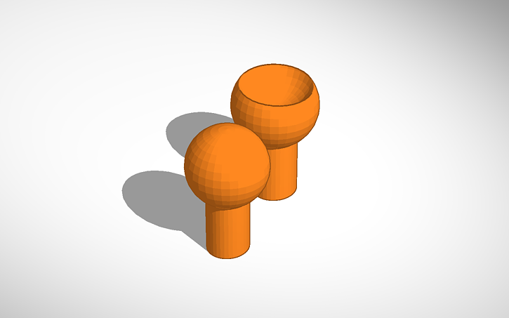 3d Design Ball And Socket Joint Tinkercad