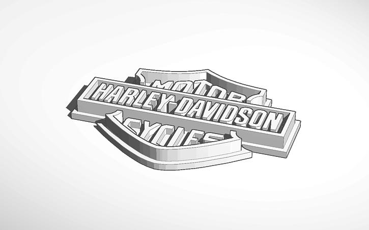 3d harley davidson logo