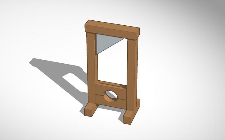 3d design guillotine tinkercad. Black Bedroom Furniture Sets. Home Design Ideas