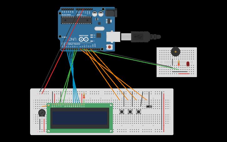 Circuit design Arduino Alarm Clock | Tinkercad