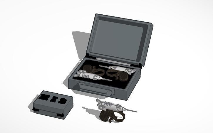 3d Design Noisy Cricket Pistol From Mib 2 Tinkercad
