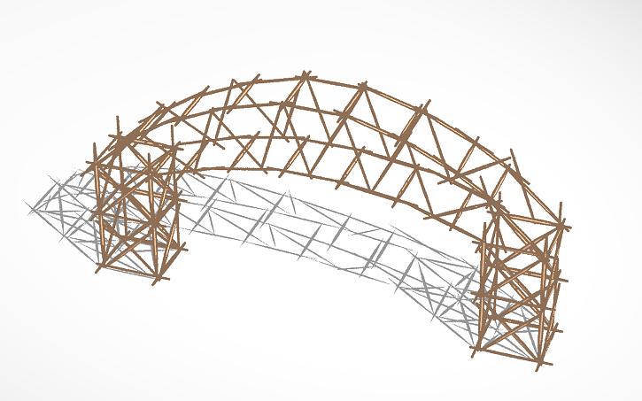 Toothpick Bridge Arch Tinkercad