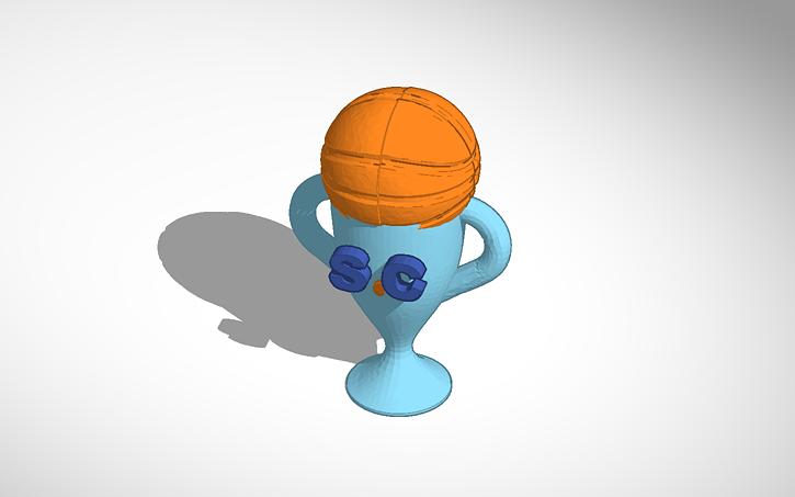 3D design Basketball Trophy | Tinkercad