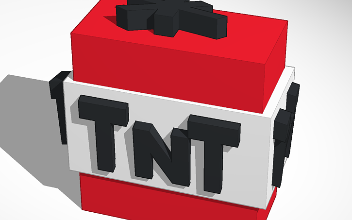 3d Design Tnt Minecraft Tinkercad