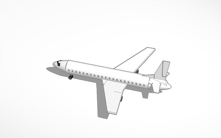 passenger plane template