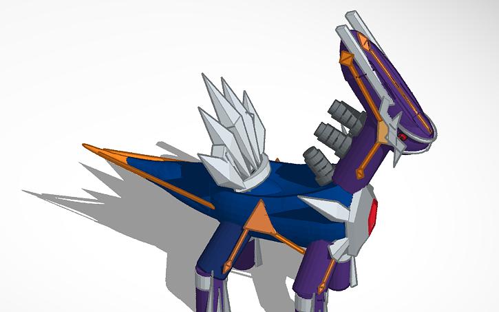 3d design primal dialga pokemon mystery dungeon tinkercad