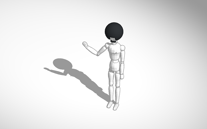 3d design hairy nippled mannequin template tinkercad
