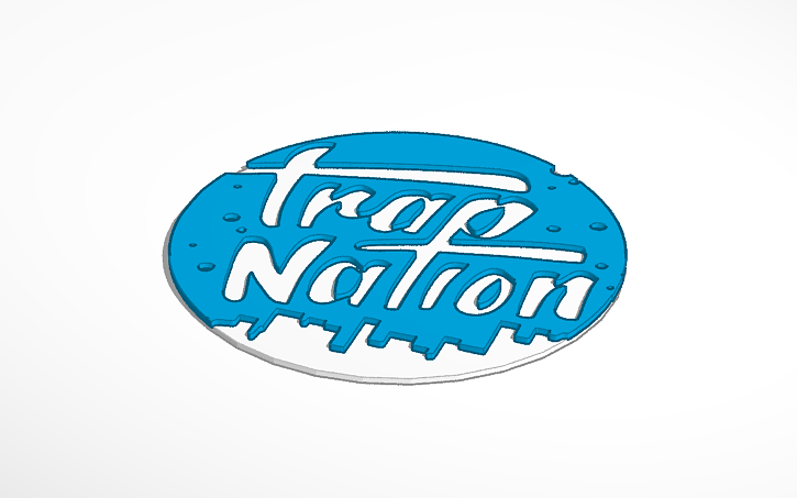 3d design trap nation logo by ep works tinkercad