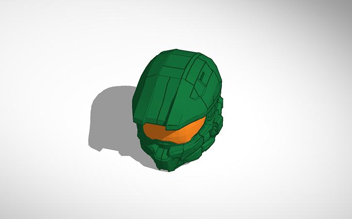 3d Design Halo 4 Master Chief Helmet Tinkercad