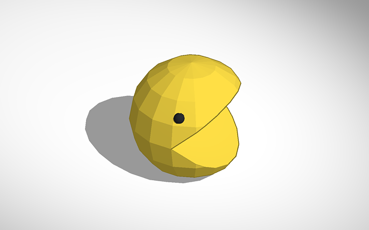 3d Design Pacman Tinkercad