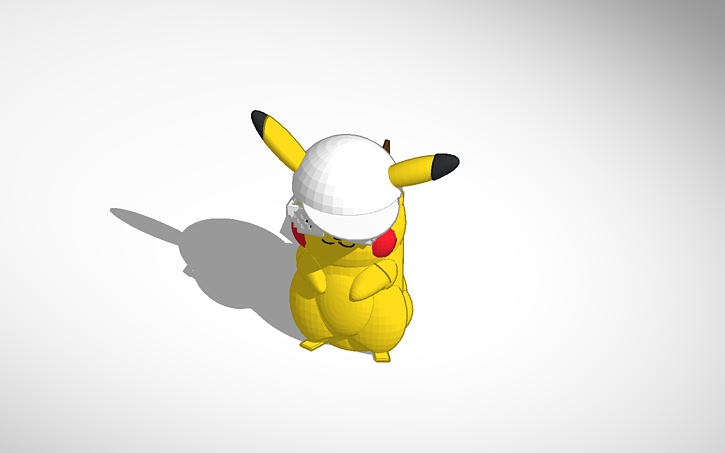 3d Design Mlg Pikachu Tinkercad