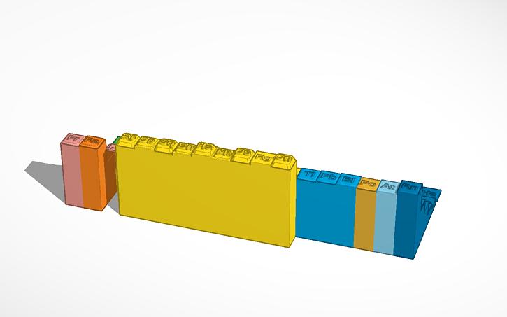3d Design Amu Periodic Table Decambra Raven Tinkercad