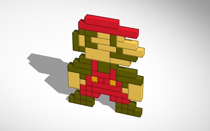 3D design Mario sprite   Tinkercad