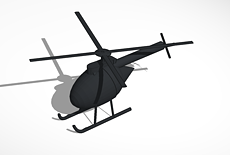 design helicopter tinkercad