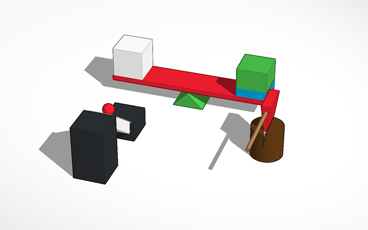 3d design simple machines lever wedge inclined plane tinkercad simple machines lever wedge inclined plane freerunsca Image collections