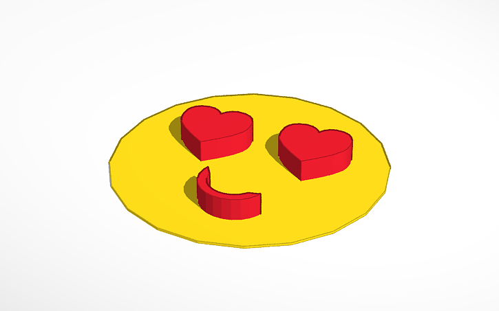 3D design Heart Face Emoji | Tinkercad