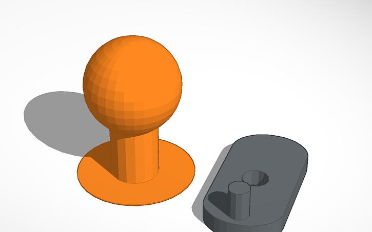 3d Design Ikea Handle Magiker Tinkercad