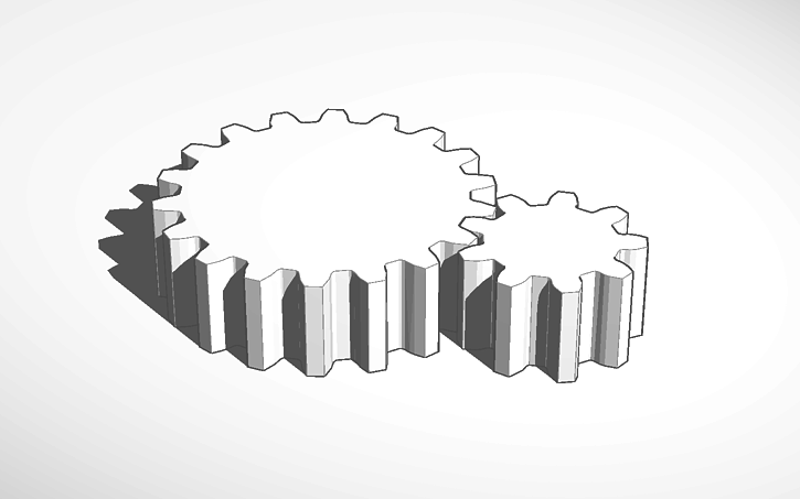 3D design Gears importet from Gear Template Generator | Tinkercad