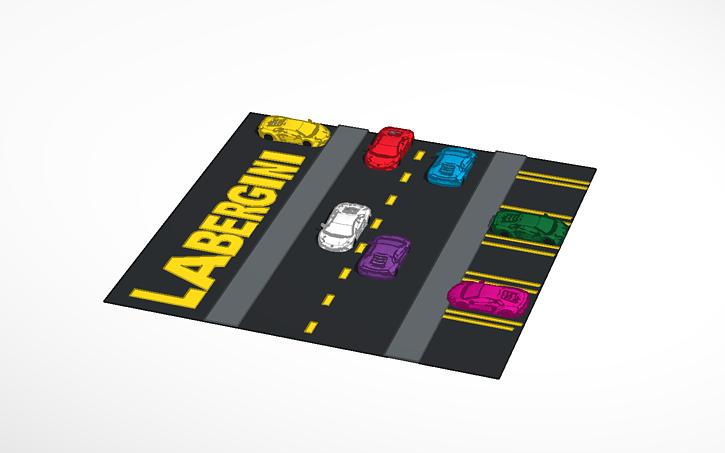 3d design lambergini tinkercad