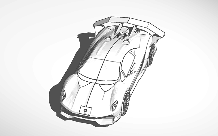 3d Design Lamborghini Sesto Elemento Customized Tinkercad
