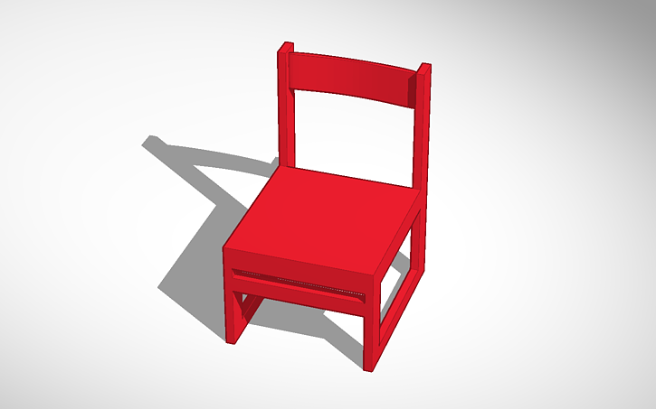 3D design Intro To Engineering Design Chair | Tinkercad