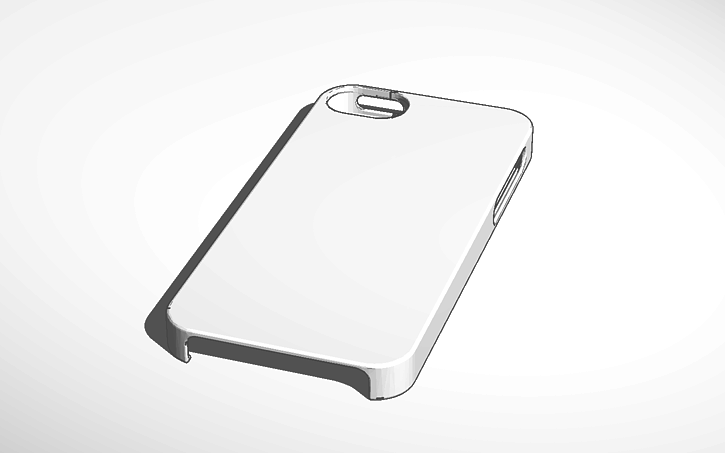 3d design i phone 5 case blank template tinkercad
